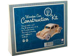 NEW Wooden Construction Build A Car 3D Model Kit Puzzle