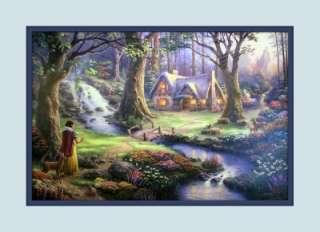 Thomas Kinkade Disney Snow White 8 x 10 Double mat Print GREAT GIFT 2B