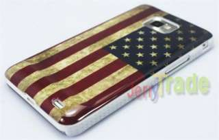 Old Fashioned US USA National Flag Cover Hard Case for Samsung Galaxy