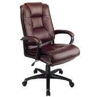 High Back Leather Executive Chair   Burgundy    Sams