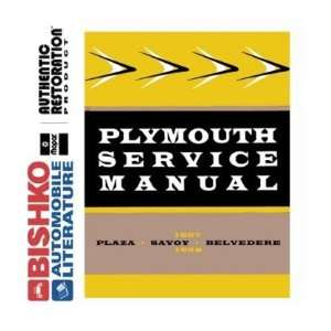 1957 1958 PLYMOUTH BELVEDERE FURY SAVOY Shop Manual CD