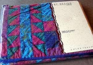 NIP Vtg Purple Twin Sz Flat Sheet Made in USA JC Penney