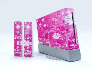New For Nintendo Wii Vinyl Sticker/Skin Pink world