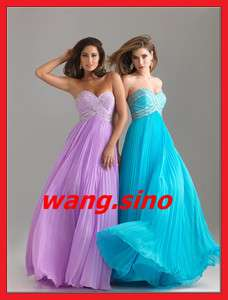 Chiffon Formal Party Evening Gowns Prom Dresses Wedding Dress
