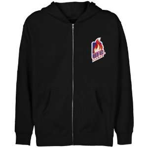 UIC Flames Youth Black Logo Applique Full Zip Hoody