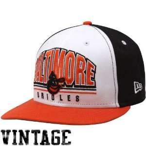 Orioles Black White Orange Monolith 9Fifty Snapback Adjustable Hat
