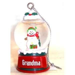 Grandma Christmas Snowman Snow Globe Ornament Everything