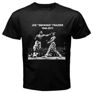 NEW R.I.P The Legend Joe Smokin Frazier Black T Shirt