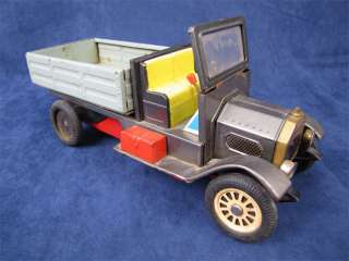 Vintage Tin Litho Friction Drive Delivery Truck Japan
