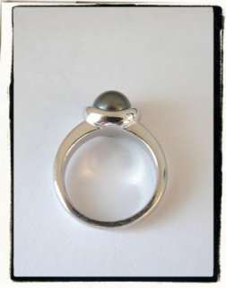 HONORA Sterling Silver 925 Black Gray Cultured Pearl Ring RETIRED