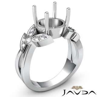 Wedding Ring Round Setting 14k W Gold s5.5 Engagement Women