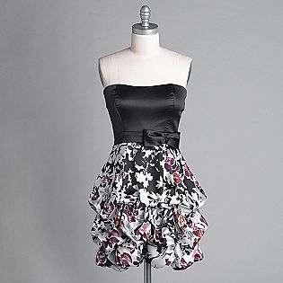 Juniors Floral Print Bubble Dress  Trixxi Clothing Juniors Dresses