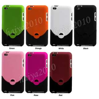 PCS Rubber Hard Case Cover For iPod Touch 4G 4th