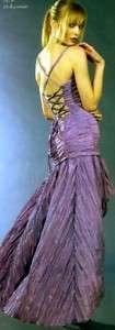 NWT Jessica McClintock Lavender Taffeta Gown Dress 8