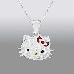 Silver  Hello Kitty Jewelry Sterling Silver Pendants & Necklaces