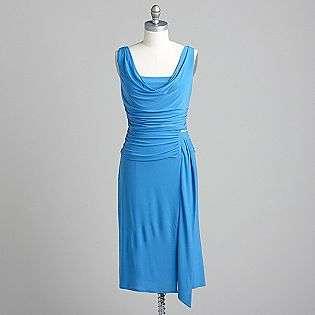 Ruched Drape Neck Dress  Sally Lou Fashions Clothing Womens Dresses