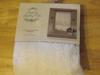 NEW SIMPLY SHABBY CHIC LACE BALLOON SHADE WINDOW PANEL 60X63