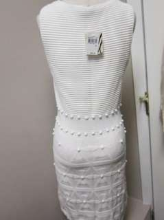 Milly New York Bahia Jacquard White Dress M NWT $295
