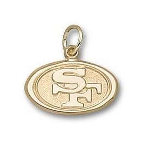 San Francisco 49ers Oval 49ers Logo 3/8 Charm   14KT