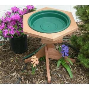 Mini Garden Bird Bath Green Patio, Lawn & Garden