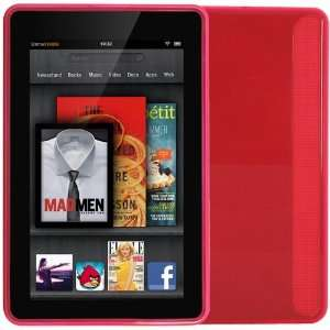 Skque Pink TPU Gel Case Cover for  Kindle Fire Electronics