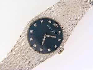 Audemars Piguet 18K White Gold Diamond Dial Estate Watch VERY RARE