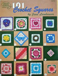 SQUARES Pattern Book~Leinhauser~Cat Heart Flowers Granny Lace How to