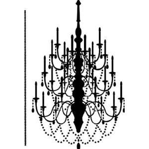 Chandelier wall decal large removable sticker