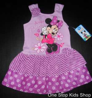 MINNIE MOUSE Toddler Girls 2T 3T 4T 5T Set DRESS Outfit Shirt Top