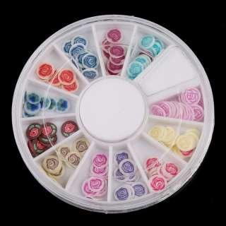 120 PCS 3D Mix Fimo Nail Art Decoration Tips UV Acrylic polymer clay
