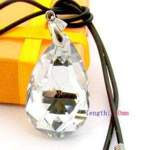 C8018 Charm faceted Crystal glass Teardrop bead Pendant
