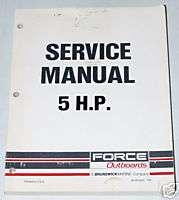 1988 1993 MERCURY FORCE OUTBOARD 5 HP 5hp Shop Service Repair Manual