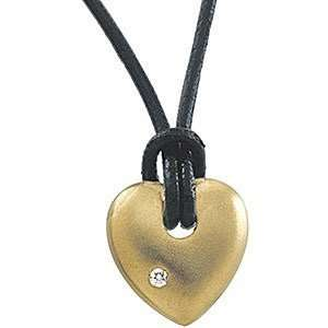 Stylish 14k Yellow Gold Heart Shaped Fashion Pendant with