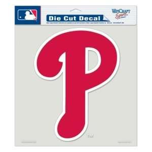 Phillies Die Cut Decal   8x8 Color