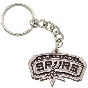 San Antonio Spurs Pewter Primary Logo Keychain  Sports