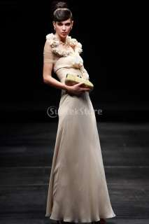14 Size New Illusion Elegant Chiffon Dinner Party Evening Gown Prom