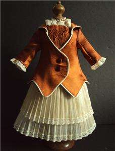 Silk Costume/Dress 17 18 Antique Jumeau Bru Steiner Bebe Doll