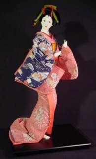 Vintage Japanese Elegant Geisha Doll Perfoming a Dance