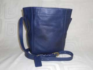 Coach 4156 Blue Leather Soho Cinch Pouch Bag Tote Shoulder Bag