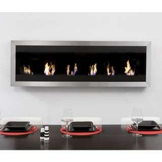 Bio Blaze Square Wall Mount Liquid Fuel Fireplace   XL