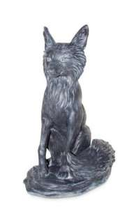 New Outdoor Resin Lead Color Fox Lawn Garden Art Statue