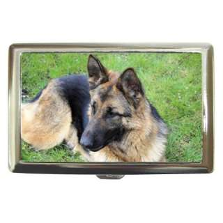 GERMAN SHEPHERD DOG PUPPY PUPPIES CIGARETTE MONEY CASE