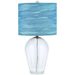 AF Lighting 8277 TL Water Color Coast Table Lamp, Clear