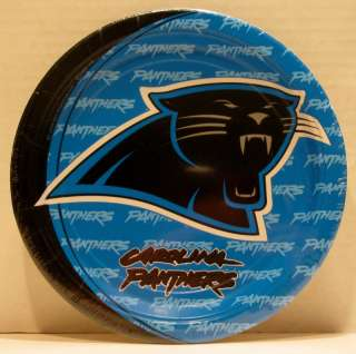 Panthers NFL Football Party Pack of 8 Dinner Paper Plates Hallmark
