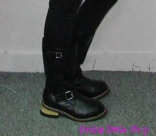Punk Rock Emo Gothic pink cowboy boots EUR 34   44