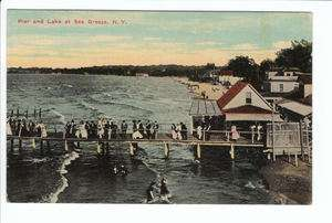 Sea Breeze Rochester New York NY Amusement Park Old Postcard