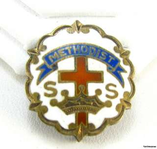 METHODIST   Sterling Silver Sunday School Church PIN