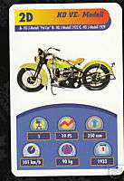 1933 HARLEY DAVIDSON VE MODEL Motorcycle TOP TRUMP CARD