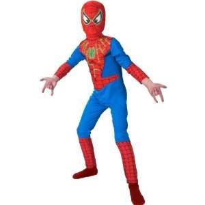 Spider Man Glow in the Dark Costume Boys Size 4 6 Toys
