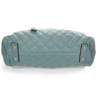 MARC JACOBS Quilted Leather STAM Bag Purse Topaz MJ